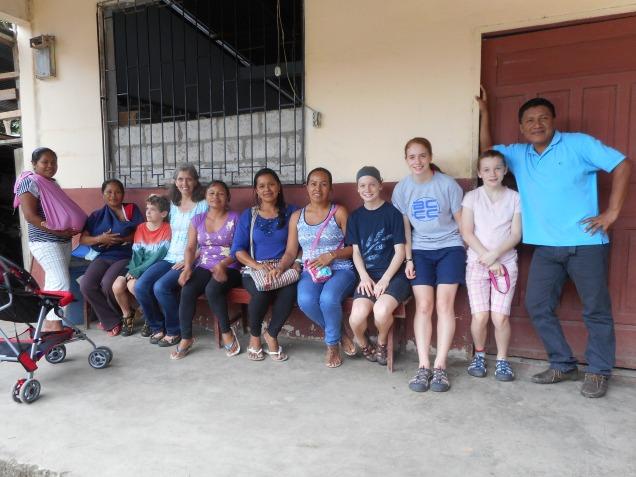 Gatherd with teachers at Dos Rios Church near Tena