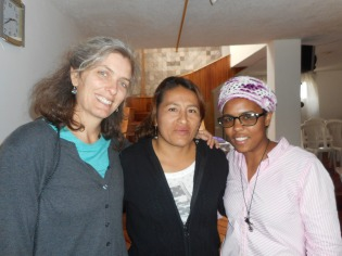 With Alba (center) and Jirenny (right) of the MCC Refugee Project