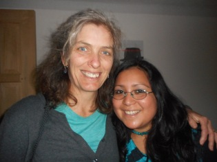 With Jennifer Rey, psychologist for the MCC Refugee Project