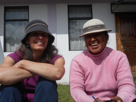 With Rosa, gardener and caretaker of the FEINE headquarters