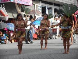 Indigenous people had a strong presence at the parade