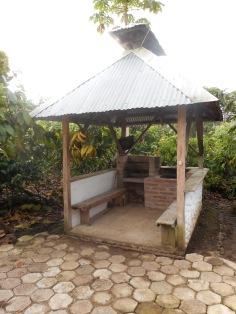 An outdoor kitchen
