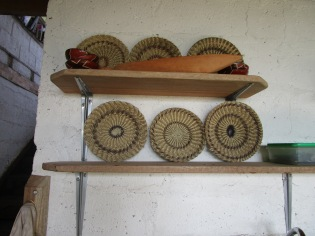 Baskets woven by Waorani women