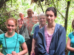 Taking part in a plant walk at the Omaere Ethnobotanical Park