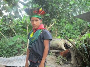 Rolando in traditional Cofan dress