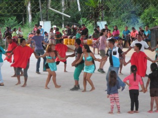 A traditional dance, with a few volunteers from our group