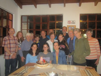 Celebrating Camila's birthday at our hotel near Quito