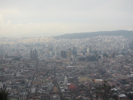 View of northern Quito from Panecillo Hill