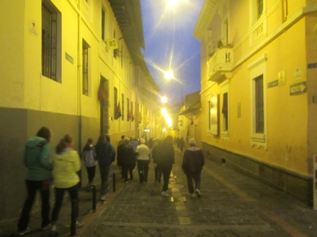 On our final evening together, we walk along a cobblestone street known as La Ronda